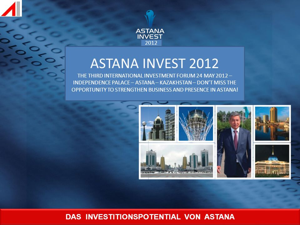 DAS INVESTITIONSPOTENTIAL VON ASTANA