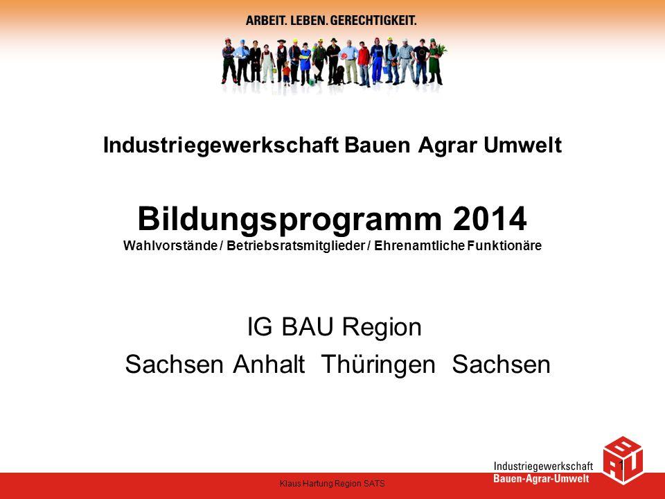 IG BAU Region Sachsen Anhalt Thüringen Sachsen