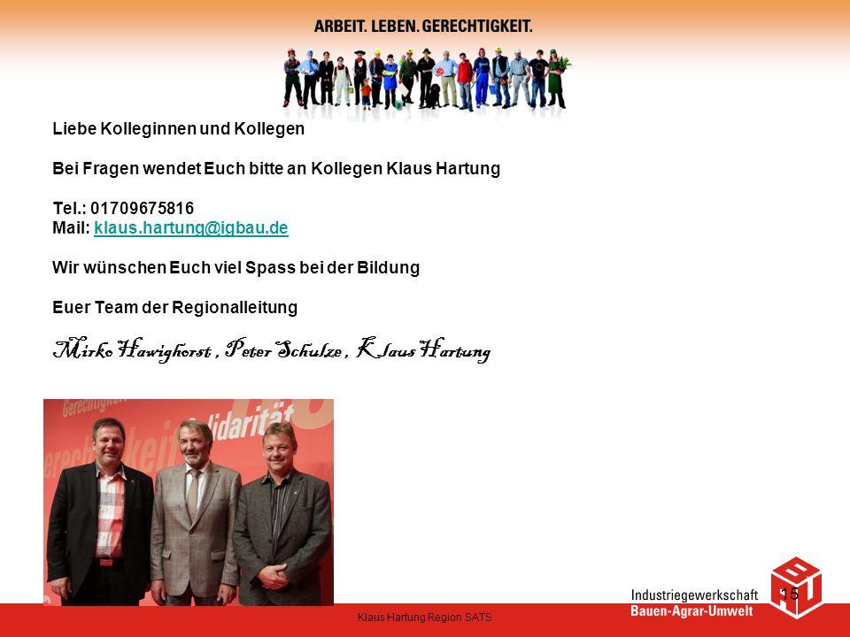 Klaus Hartung Region SATS
