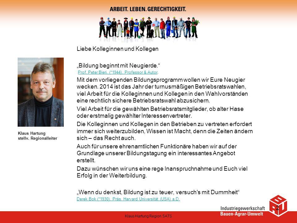 Klaus Hartung stellv. Regionalleiter