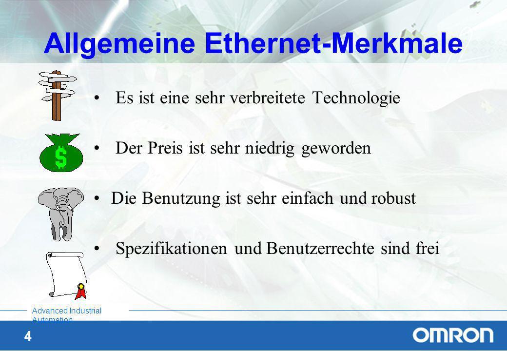 Allgemeine Ethernet-Merkmale