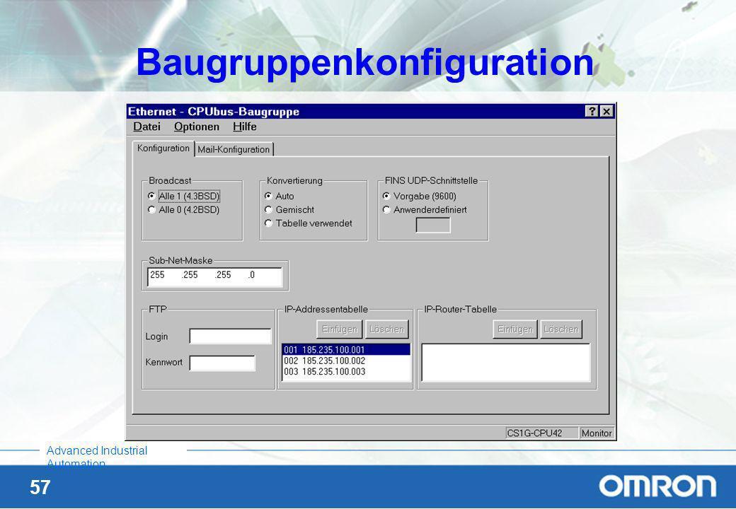 Baugruppenkonfiguration