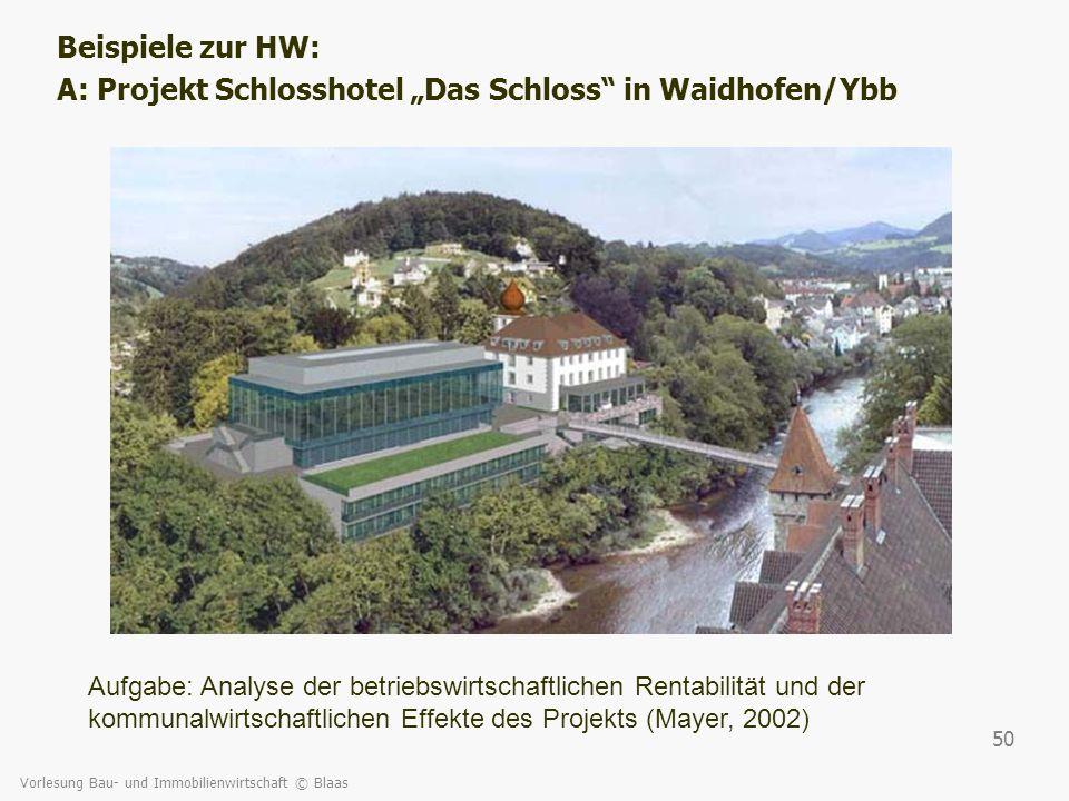 "A: Projekt Schlosshotel ""Das Schloss in Waidhofen/Ybb"