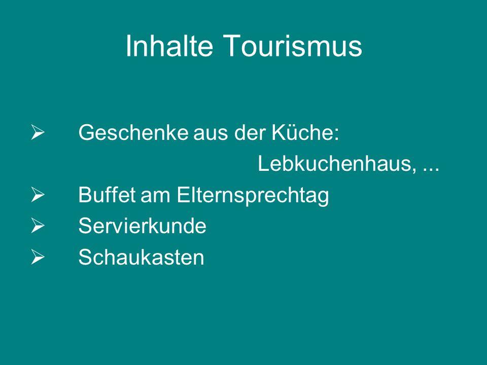Inhalte Tourismus Geschenke aus der Küche: Lebkuchenhaus, ...
