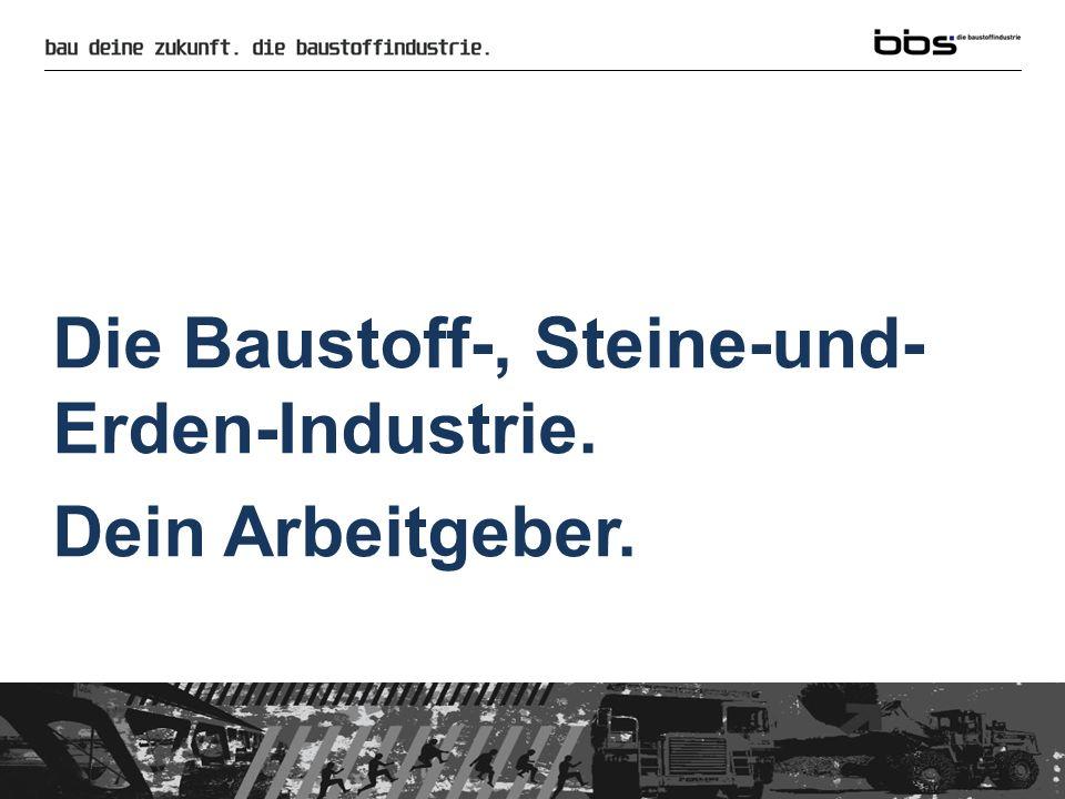 Die Baustoff-, Steine-und-Erden-Industrie.