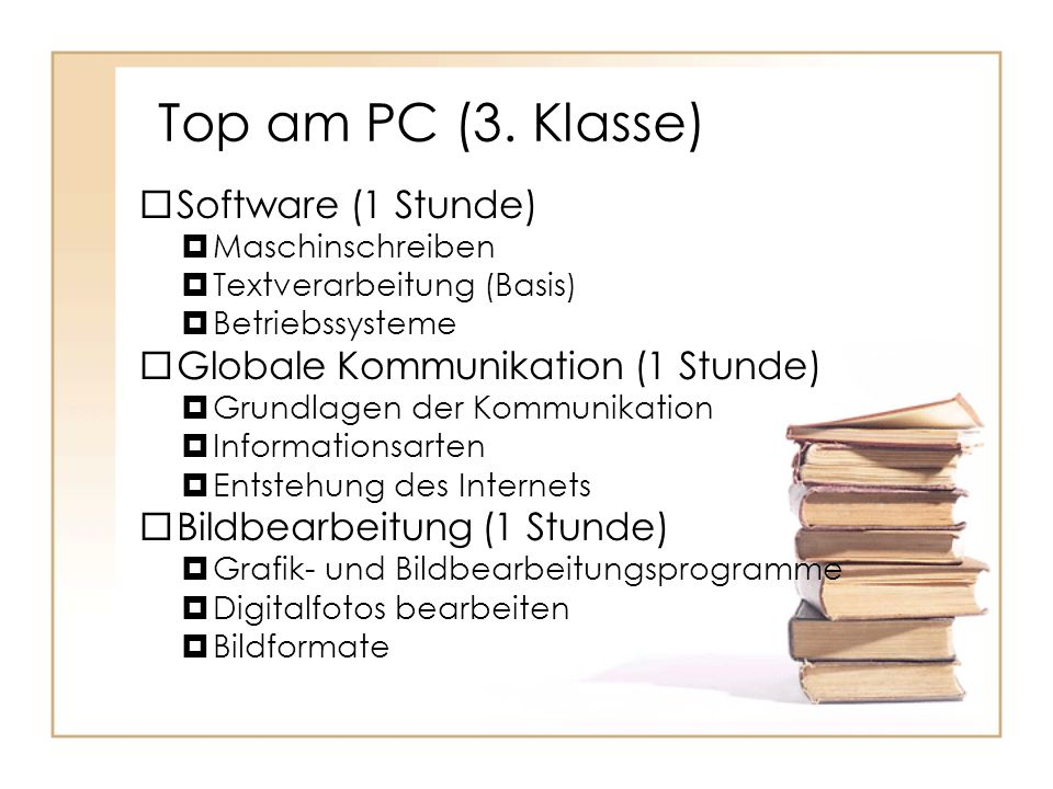 Top am PC (3. Klasse) Software (1 Stunde)