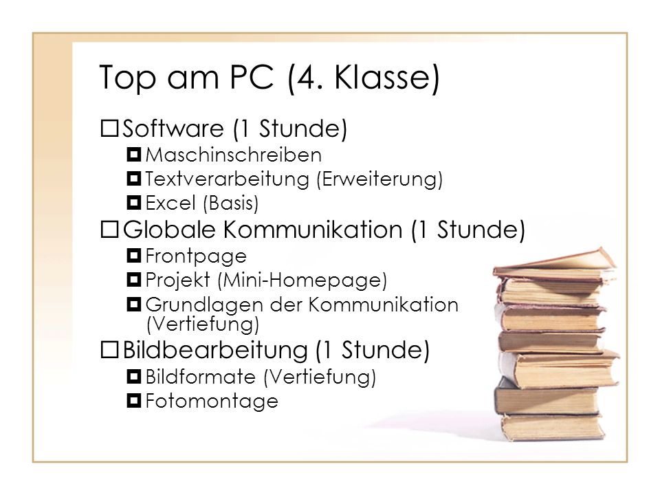 Top am PC (4. Klasse) Software (1 Stunde)