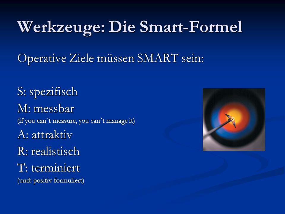 Werkzeuge: Die Smart-Formel