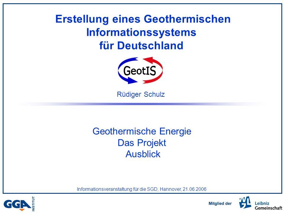 Erstellung eines Geothermischen Informationssystems