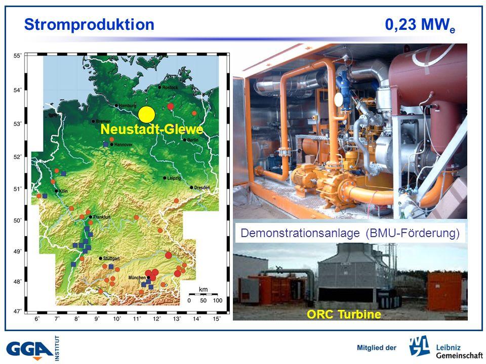 Stromproduktion 0,23 MWe Stand 2004 Neustadt-Glewe