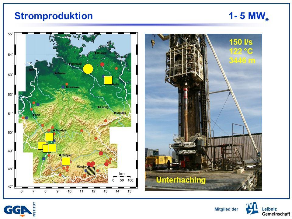 Stromproduktion 1- 5 MWe Im Bau 7 Anlagen Projekt Unterhaching