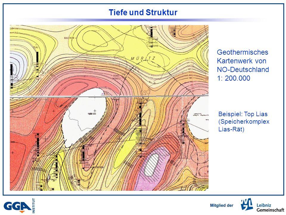 Tiefe und Struktur Geothermisches Kartenwerk von NO-Deutschland