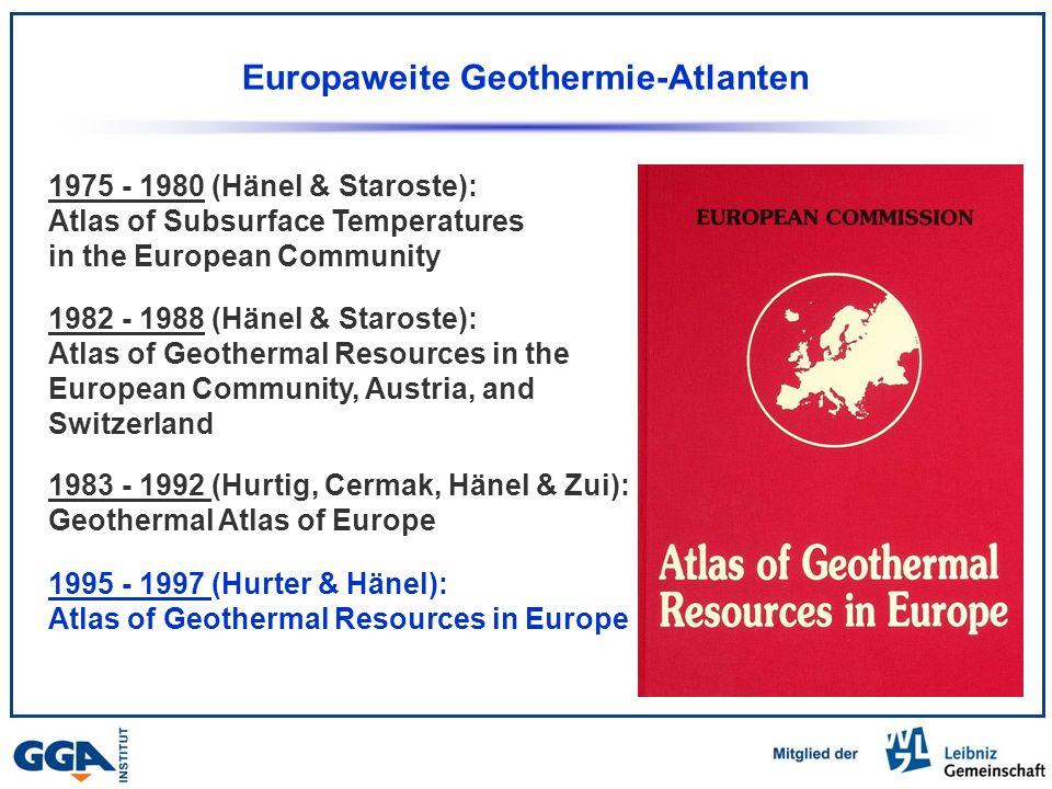 Europaweite Geothermie-Atlanten