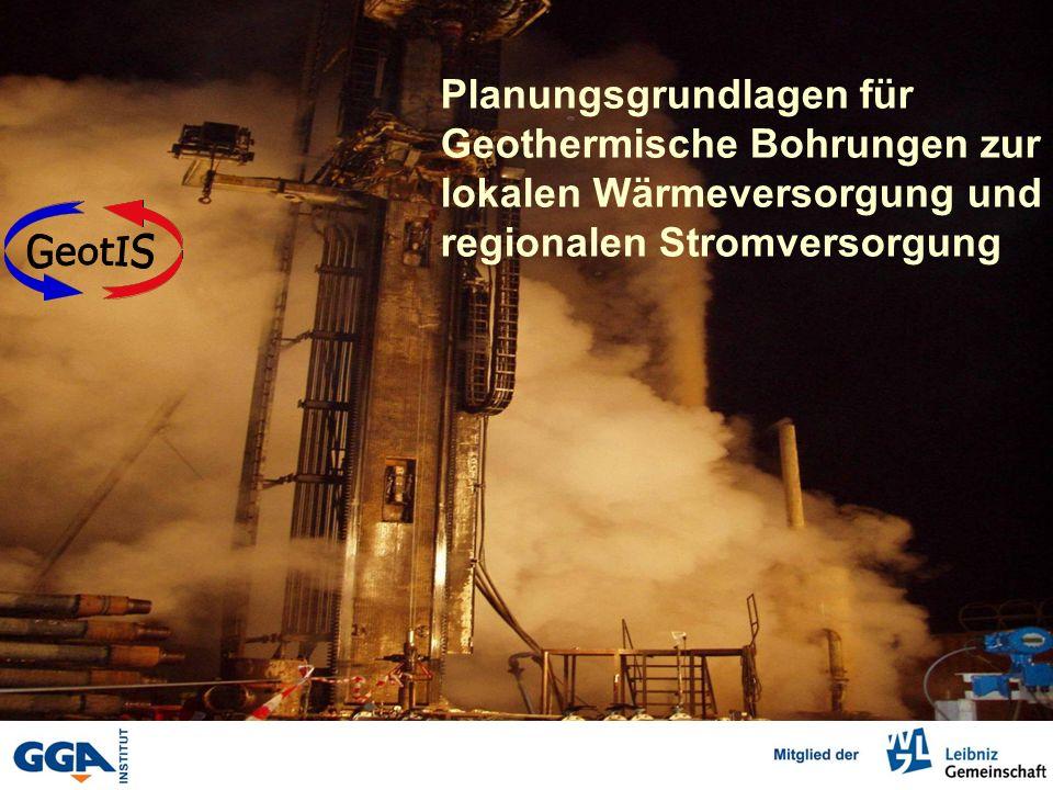 GeotIS Planungsgrundlagen für Geothermische Bohrungen zur