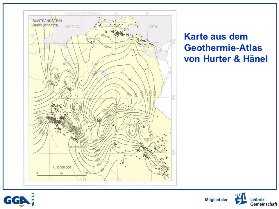 Karte aus dem Geothermie-Atlas von Hurter & Hänel