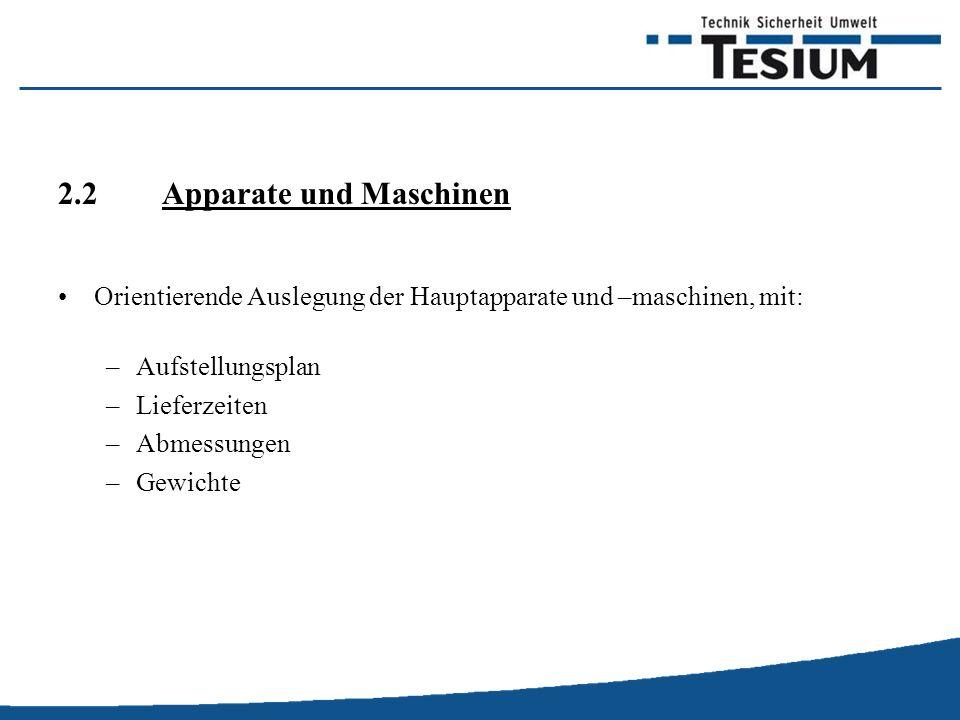 2.2 Apparate und Maschinen