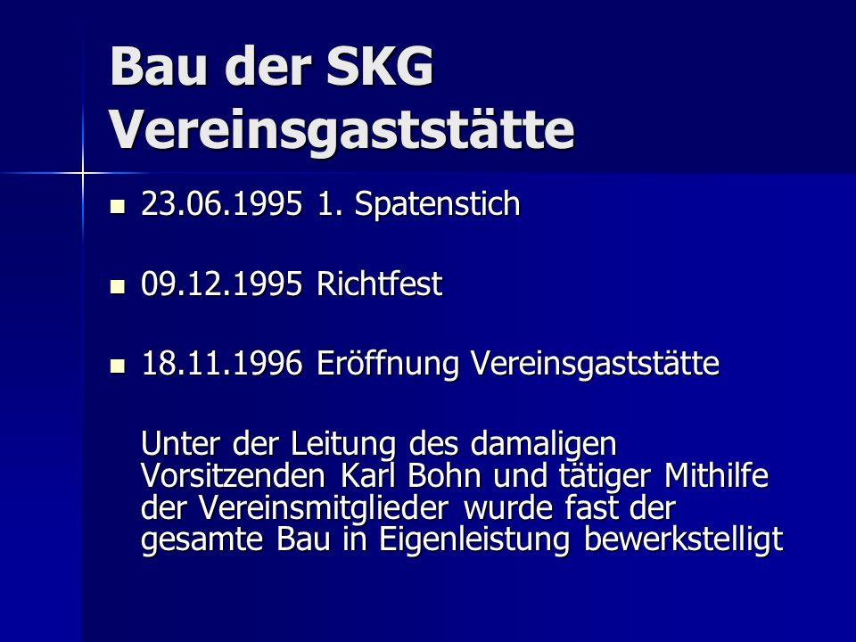 Bau der SKG Vereinsgaststätte