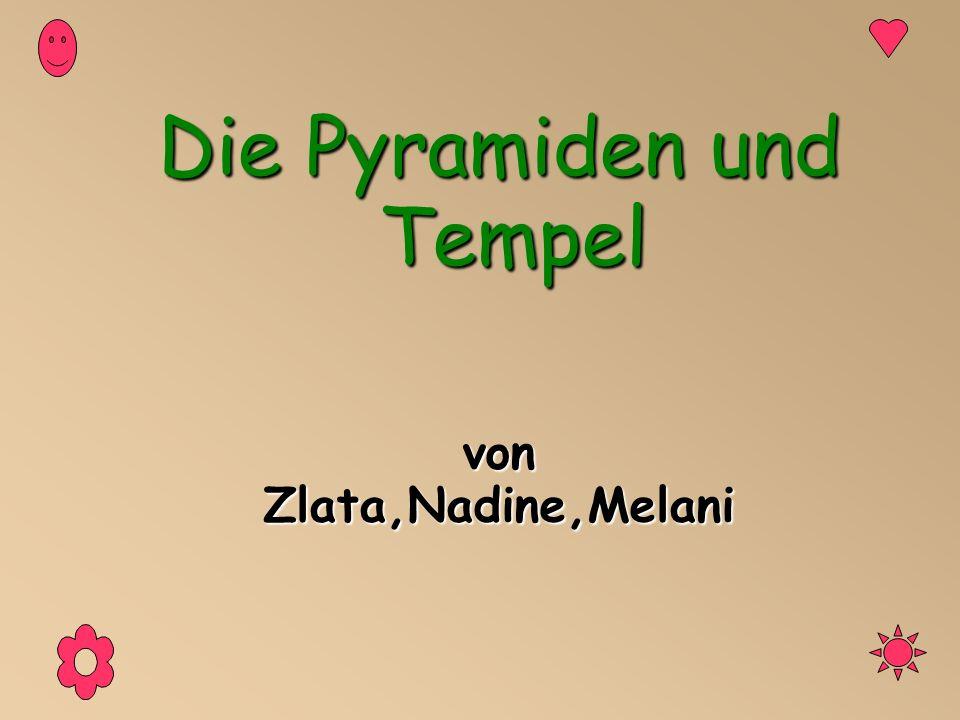 Die Pyramiden und Tempel