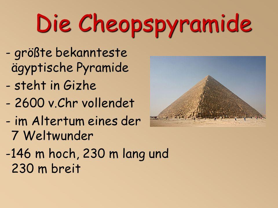 Die Cheopspyramide - größte bekannteste ägyptische Pyramide