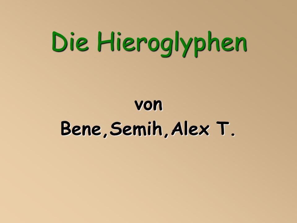 Die Hieroglyphen von Bene,Semih,Alex T.