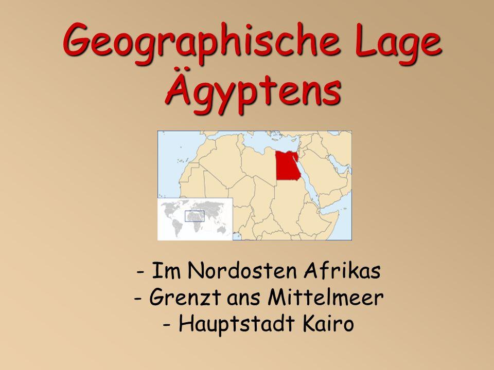 Geographische Lage Ägyptens