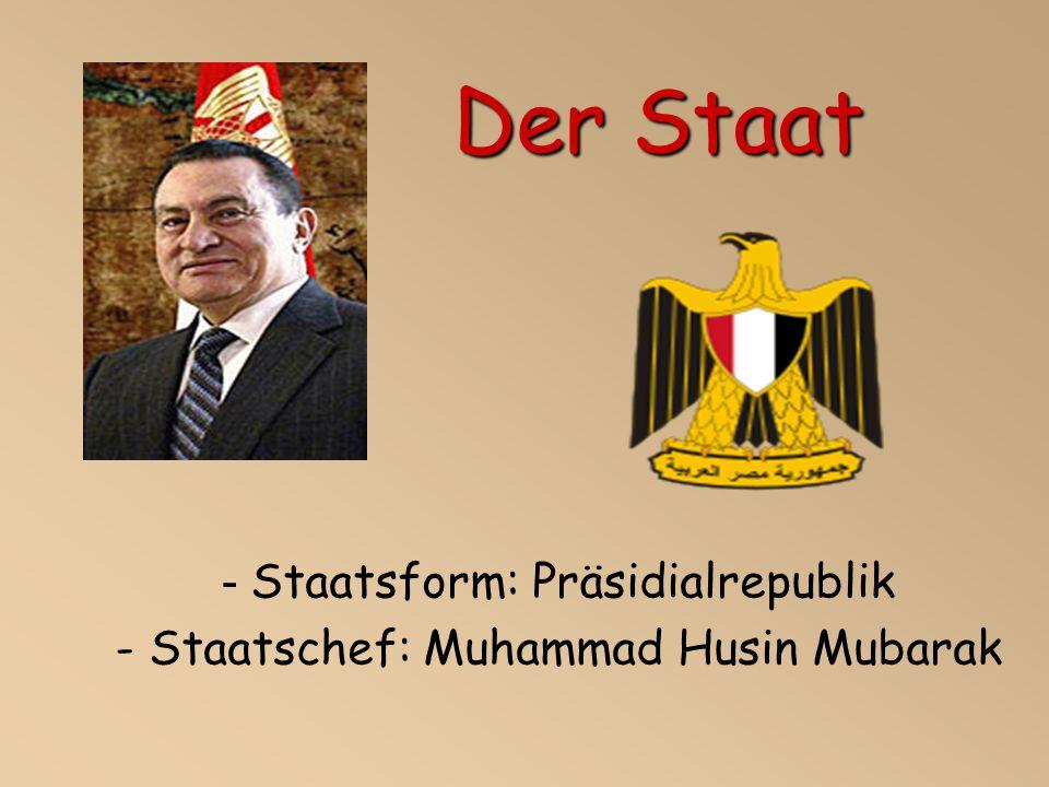 - Staatsform: Präsidialrepublik - Staatschef: Muhammad Husin Mubarak