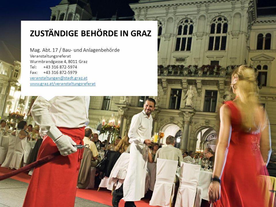 ZUSTÄNDIGE BEHÖRDE in Graz