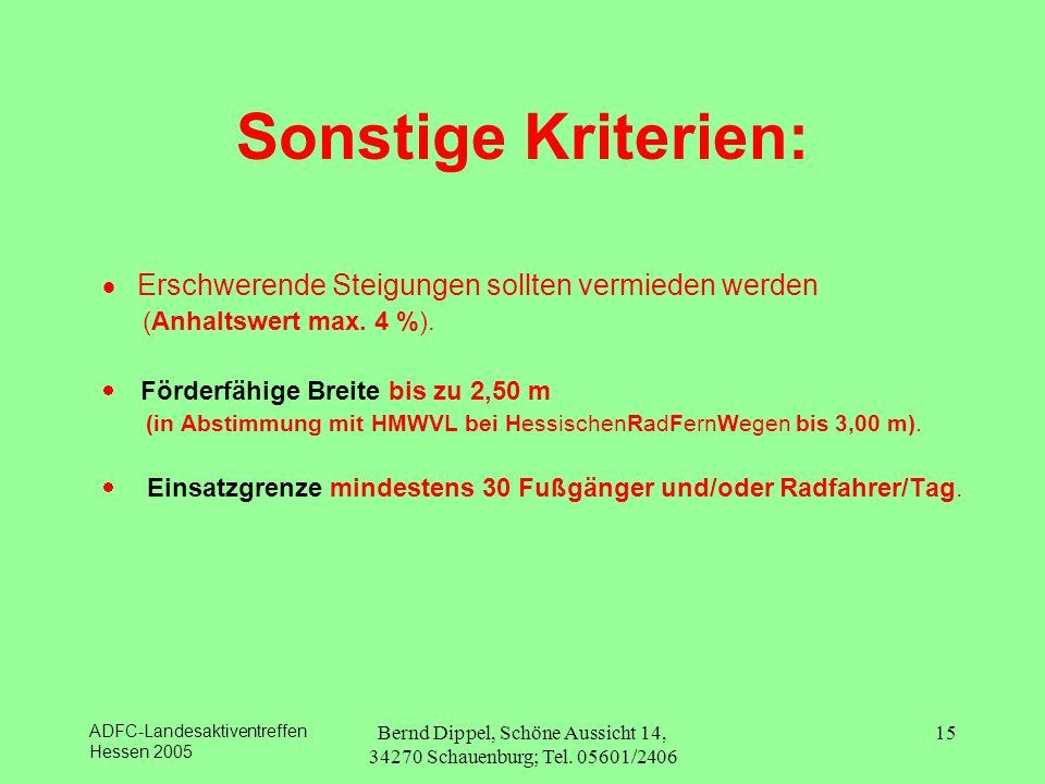 Bernd Dippel, Schöne Aussicht 14, 34270 Schauenburg; Tel. 05601/2406