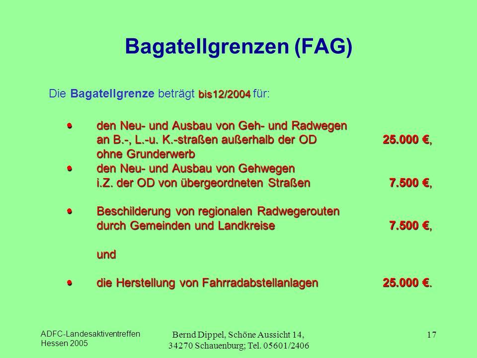 Bagatellgrenzen (FAG)