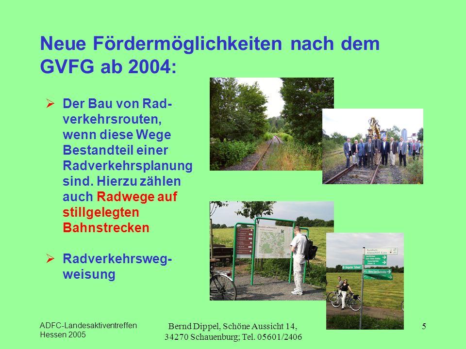 Neue Fördermöglichkeiten nach dem GVFG ab 2004: