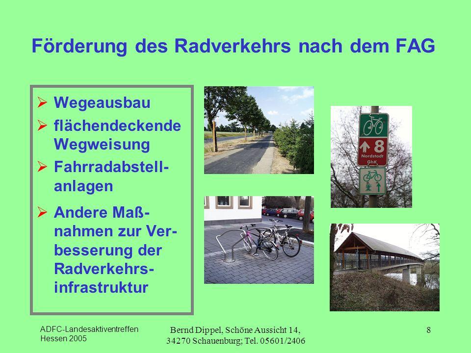 Förderung des Radverkehrs nach dem FAG