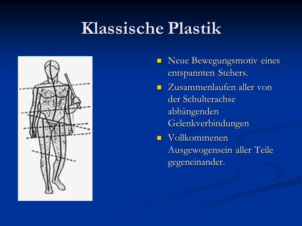 Klassische Plastik Neue Bewegungsmotiv eines entspannten Stehers.