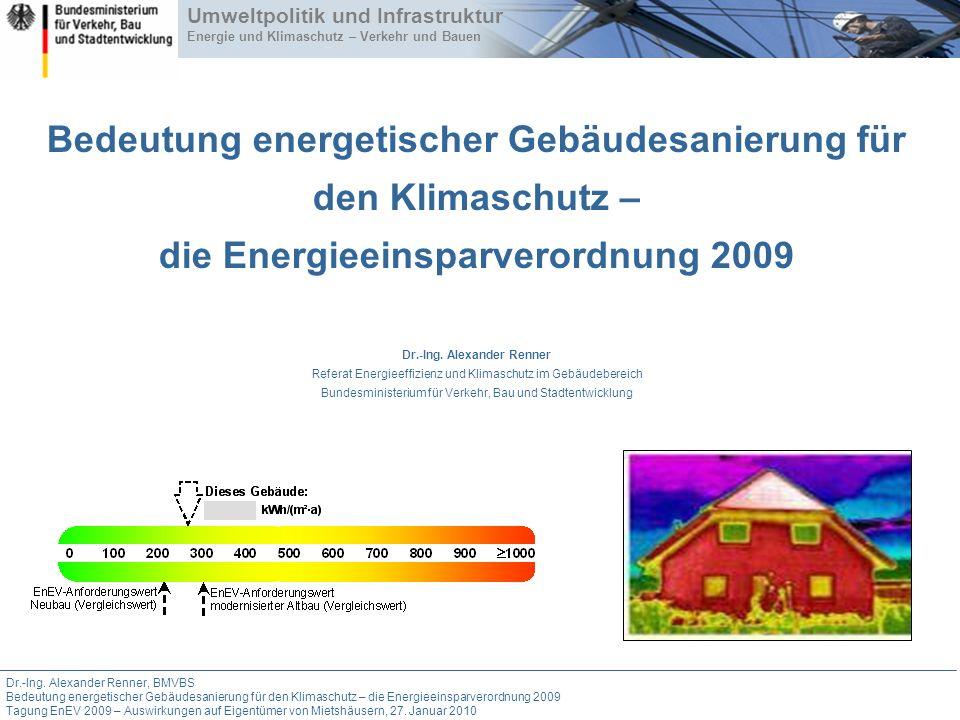 Bedeutung energetischer Gebäudesanierung für den Klimaschutz – die Energieeinsparverordnung 2009 Dr.-Ing.