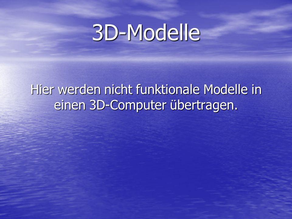 Hier werden nicht funktionale Modelle in einen 3D-Computer übertragen.