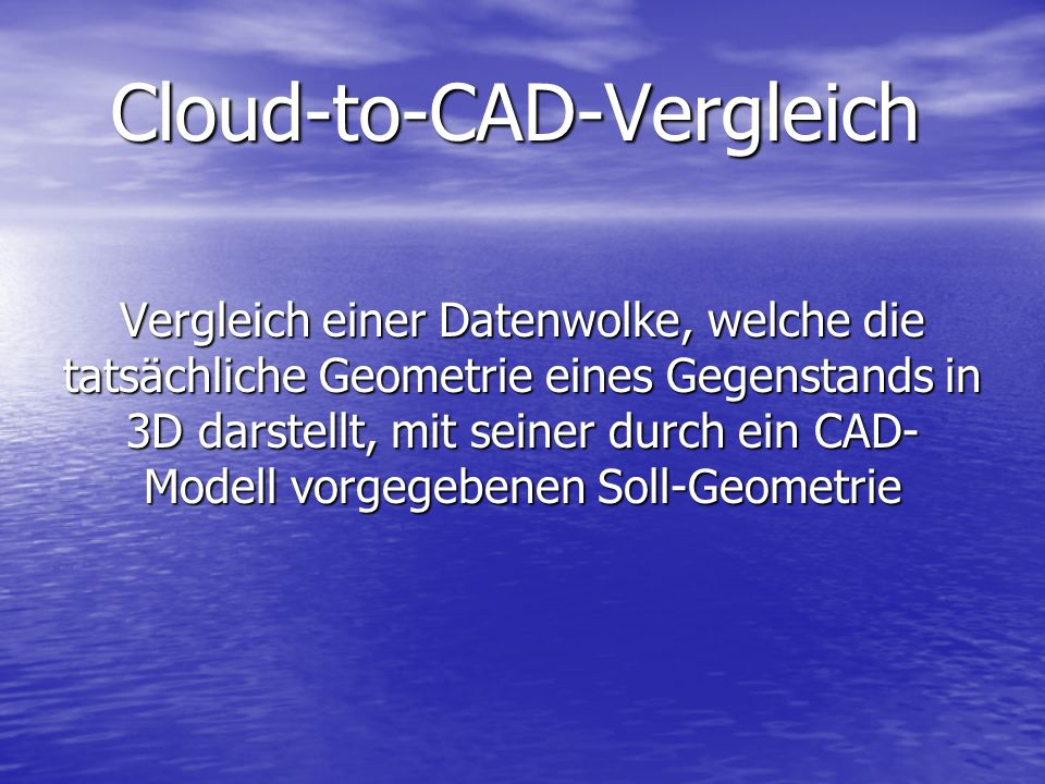 Cloud-to-CAD-Vergleich