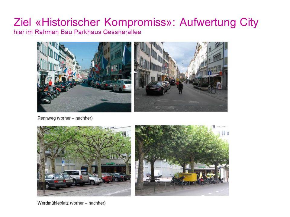 Ziel «Historischer Kompromiss»: Aufwertung City hier im Rahmen Bau Parkhaus Gessnerallee