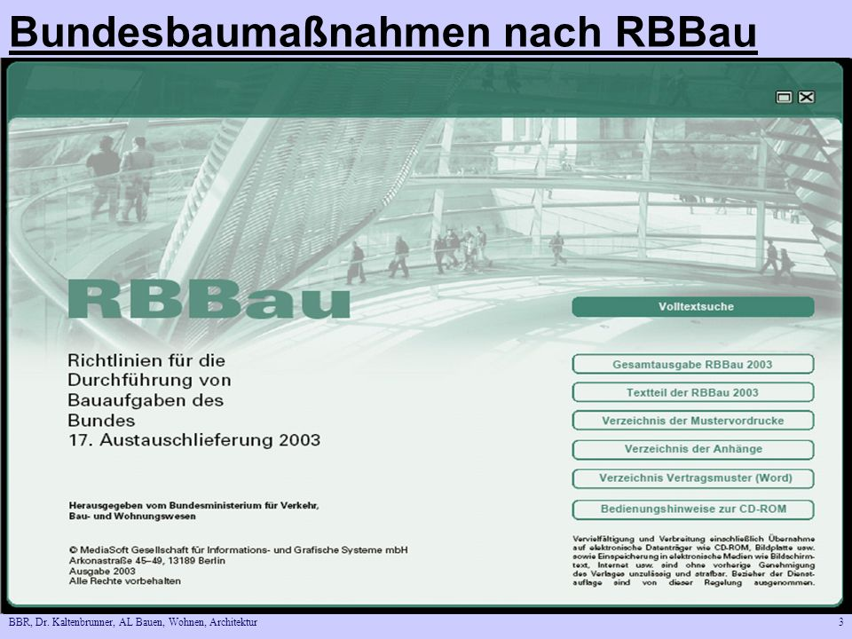 Bundesbaumaßnahmen nach RBBau