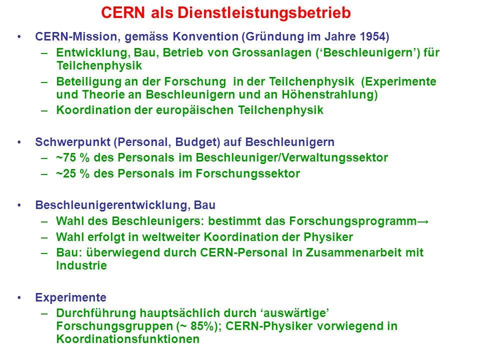 CERN als Dienstleistungsbetrieb