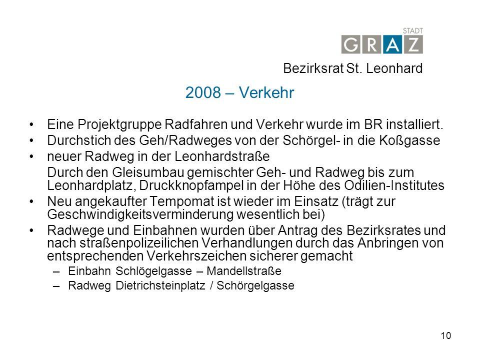 2008 – Verkehr Bezirksrat St. Leonhard