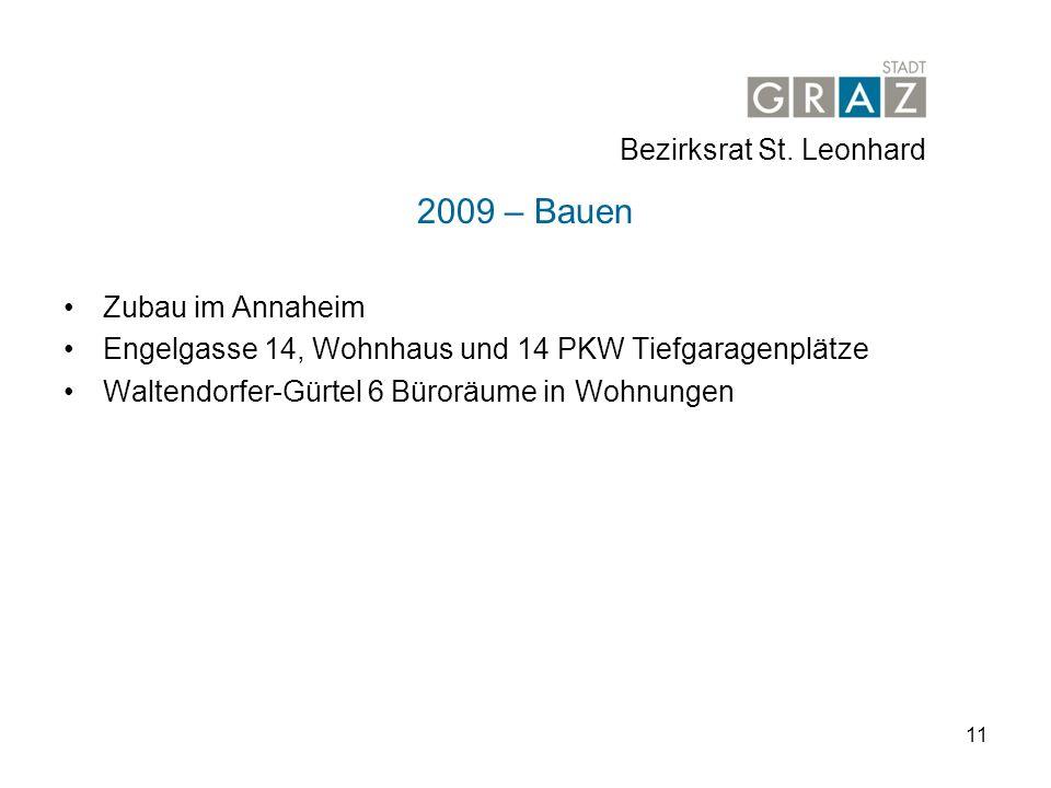 2009 – Bauen Bezirksrat St. Leonhard Zubau im Annaheim