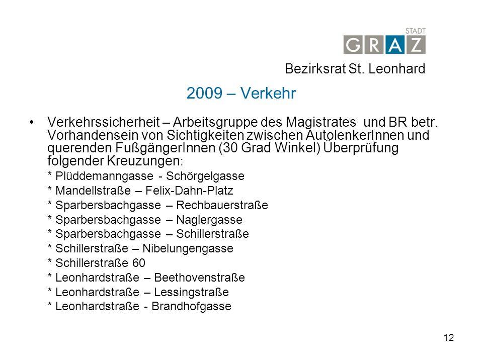 2009 – Verkehr Bezirksrat St. Leonhard