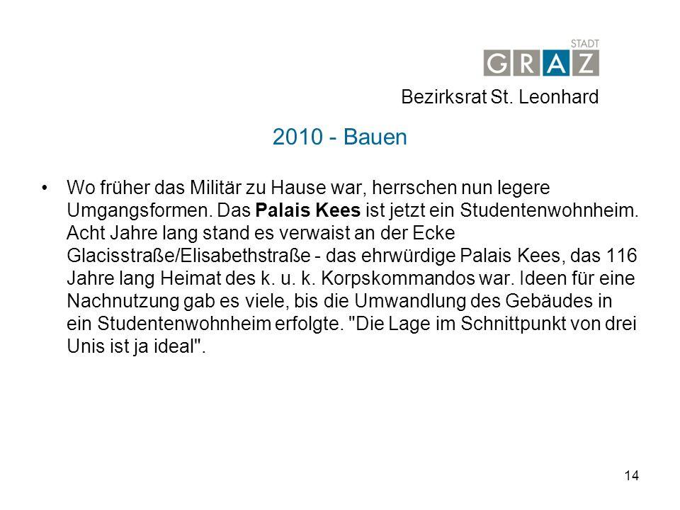 2010 - Bauen Bezirksrat St. Leonhard