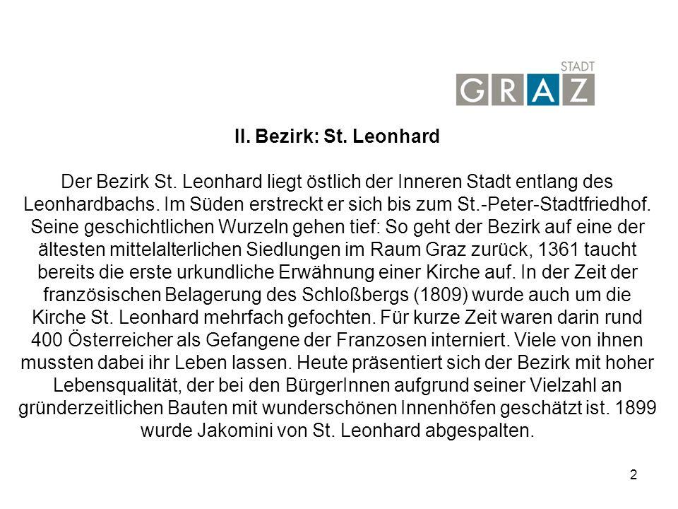 II. Bezirk: St. Leonhard