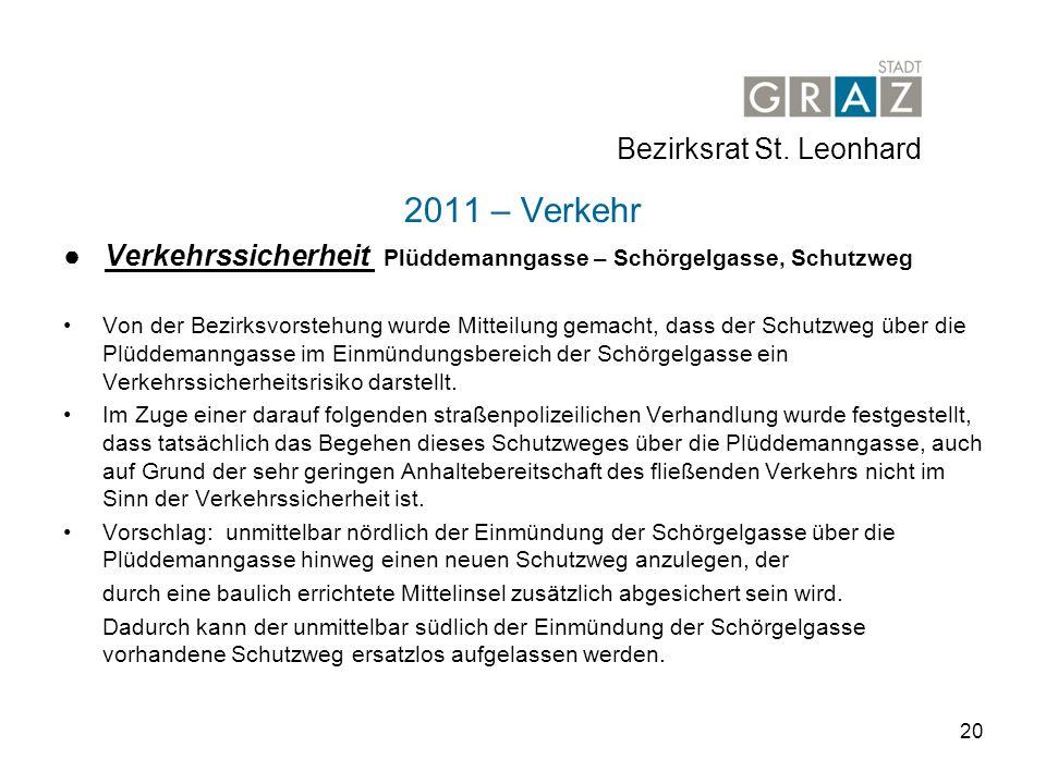 2011 – Verkehr Bezirksrat St. Leonhard