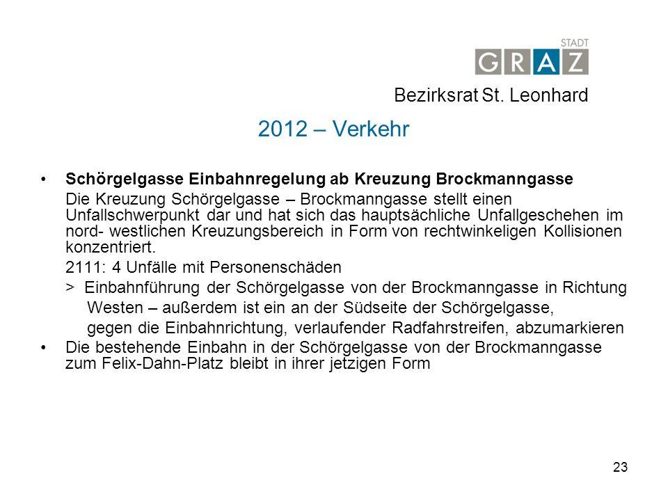 2012 – Verkehr Bezirksrat St. Leonhard