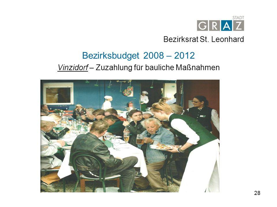 Vinzidorf – Zuzahlung für bauliche Maßnahmen