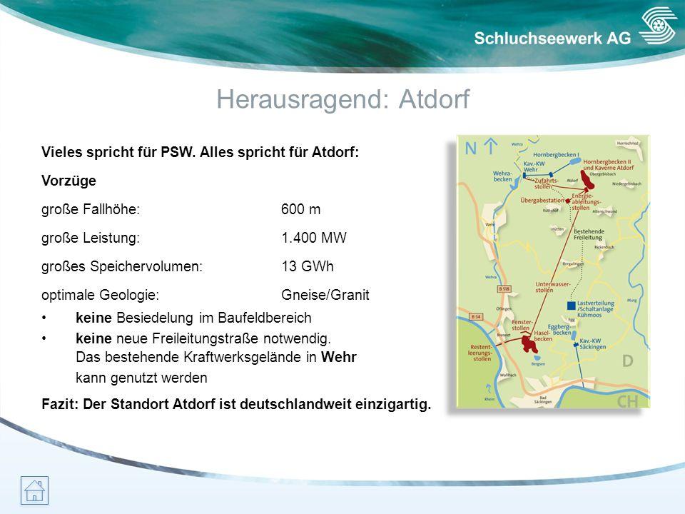 Herausragend: Atdorf Vieles spricht für PSW. Alles spricht für Atdorf: