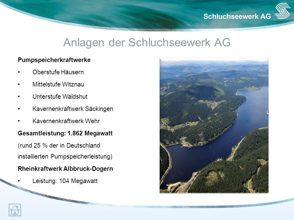 Anlagen der Schluchseewerk AG