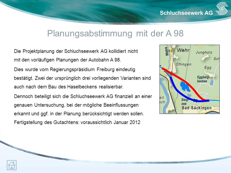 Planungsabstimmung mit der A 98