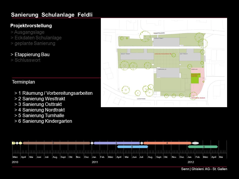 > Eckdaten Schulanlage > geplante Sanierung > Etappierung Bau